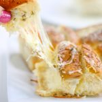 This Cheesy Hawaiian Garlic Bread will literally change your life. So much so that daughter requests this cheesy pull-apart bread for her birthday. This recipe is seriously that delicious!