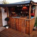 Home bar in garden