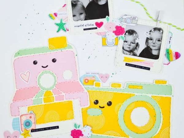 Nice camera layout – scrap booking