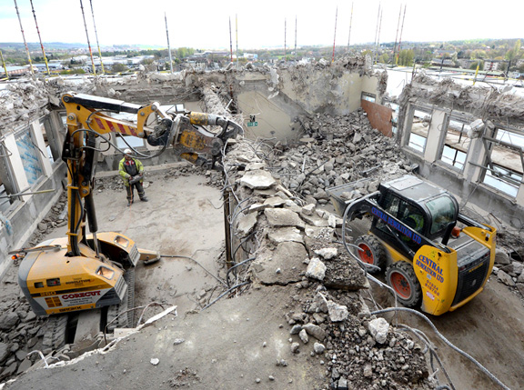 Demolition contractors earn more work … but they earn less money