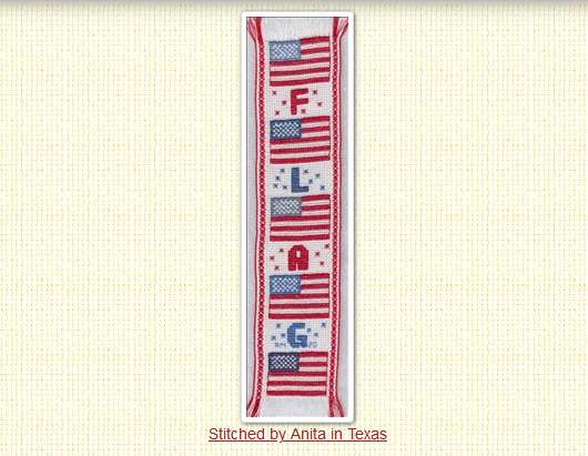 American Flag Cross Stitch Pattern Bookmark – Cross Stitch