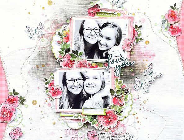 Mother and Daughter Scrapbook Page – Scrapbooking
